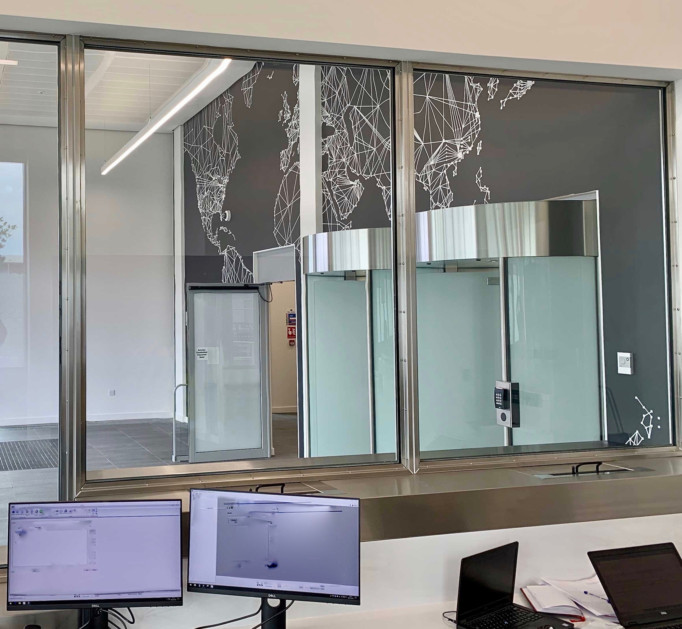 Data Center Security Counter and Screen