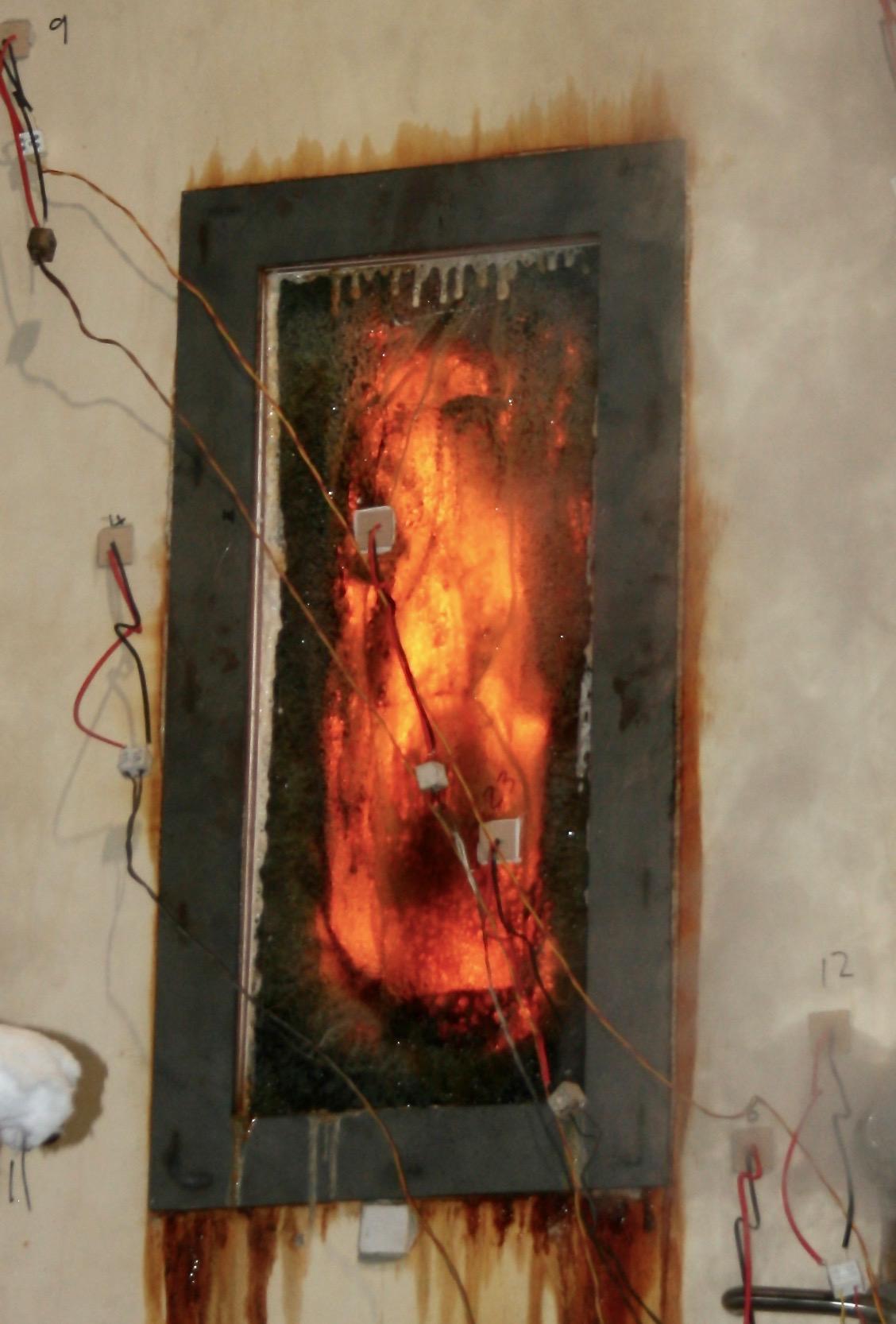 Fire Test on Glass