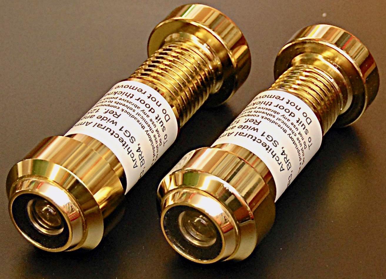 Brass ballistic door viewers
