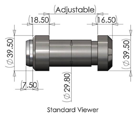 Ballistic Door Viewer Dimensions
