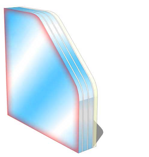 br2 no spall fire rated glass