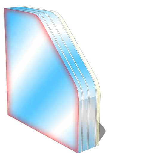 br4 no spall fire rated glass