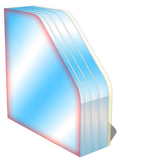 br5 no spall fire rated glass