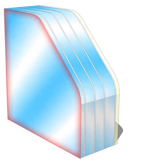br6 no spall fire rated glass