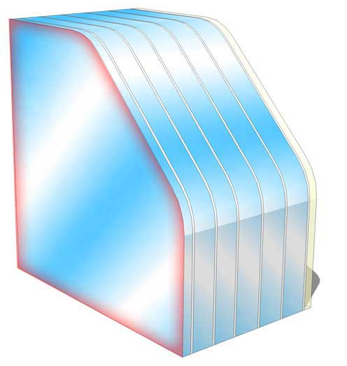 br7 no spall fire rated glass