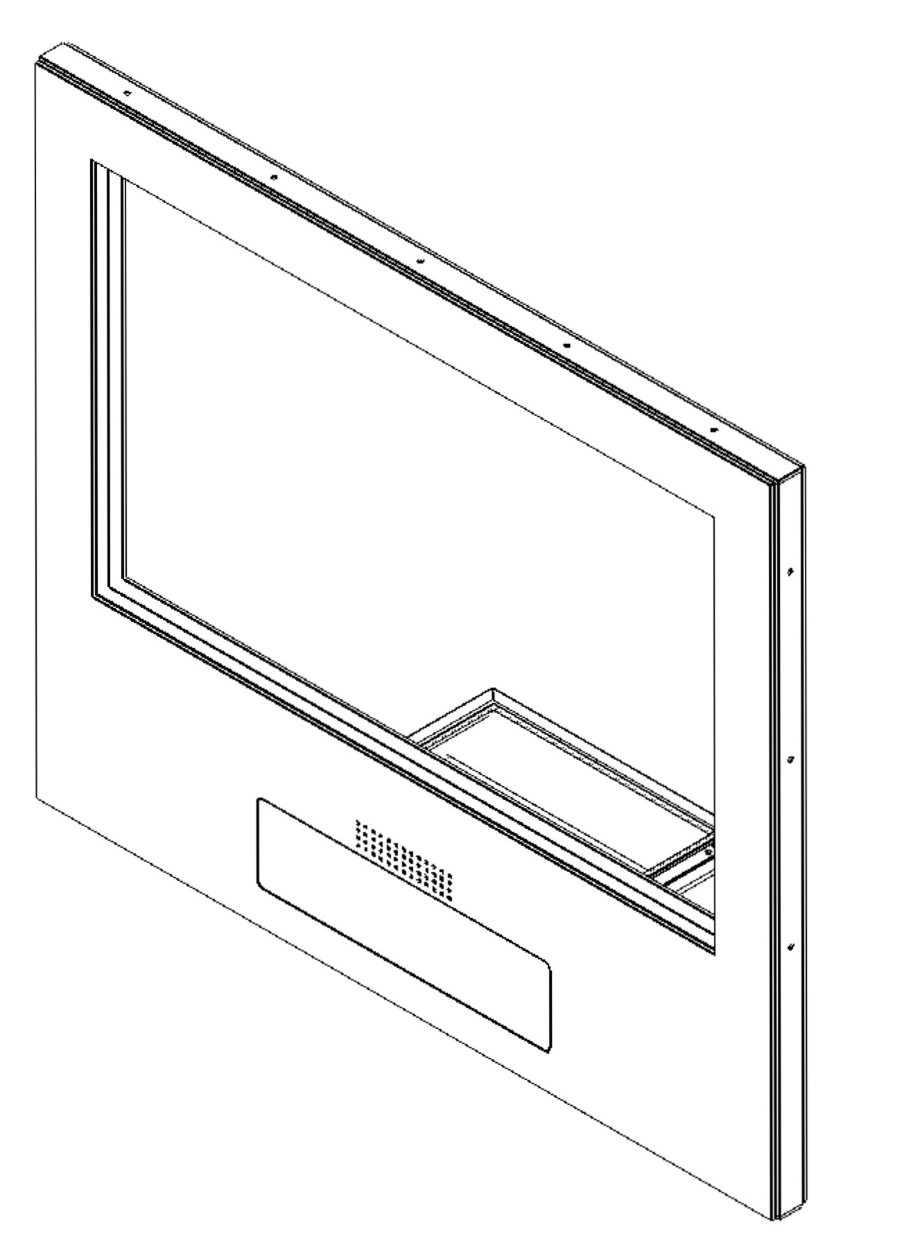 oversize FB6 BR6 bullet resistant guard house transaction window with Drawer.jpeg