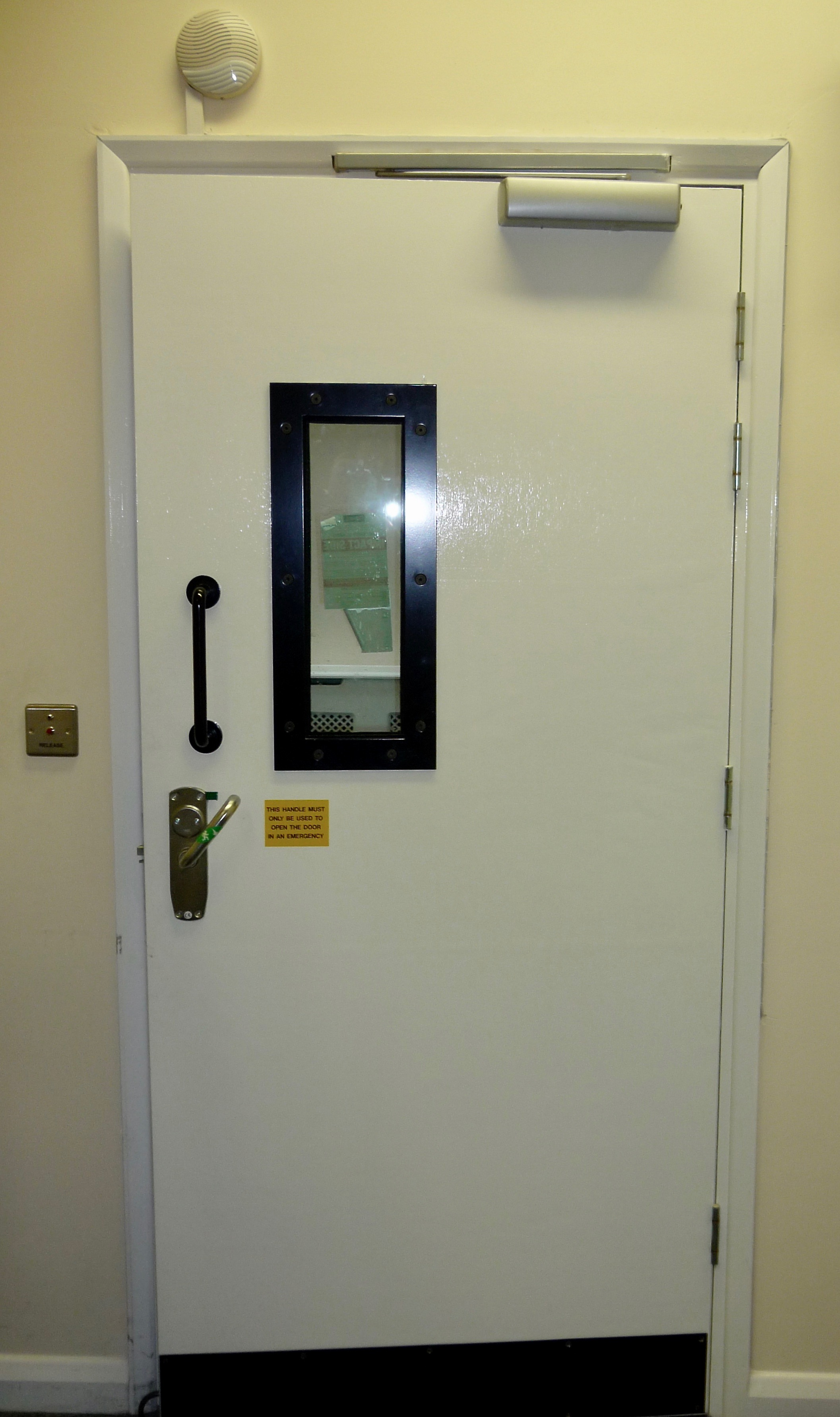 Ballistic Timber Door with Vision Panel