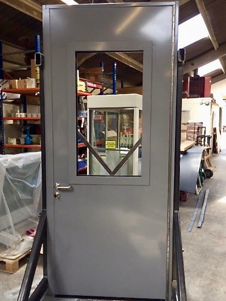 EN 1522 FB6 Half Glazed Door
