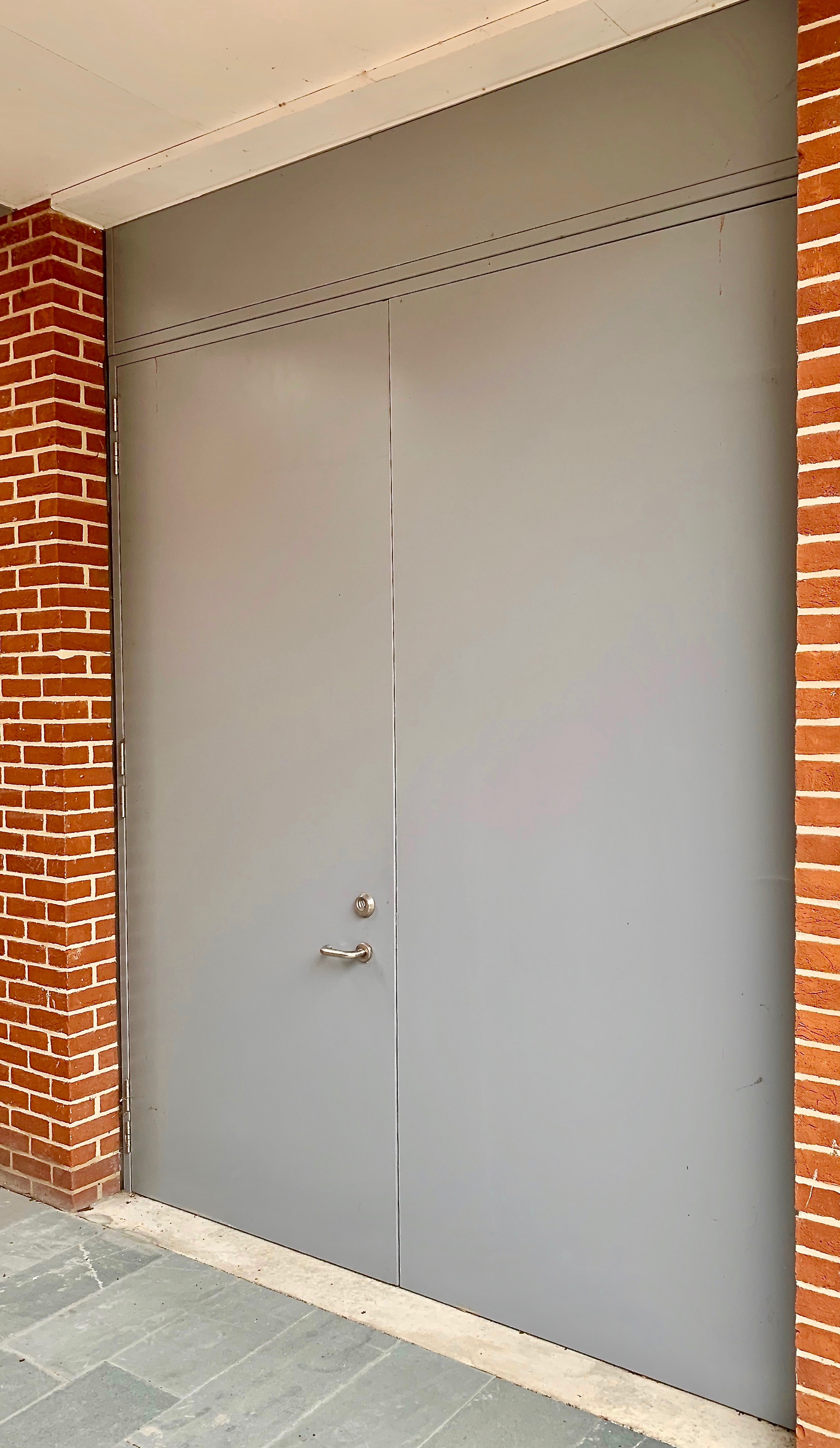 Security Metal Double Doorset