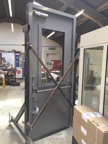 EN 1063 BR6 Half Glazed Door
