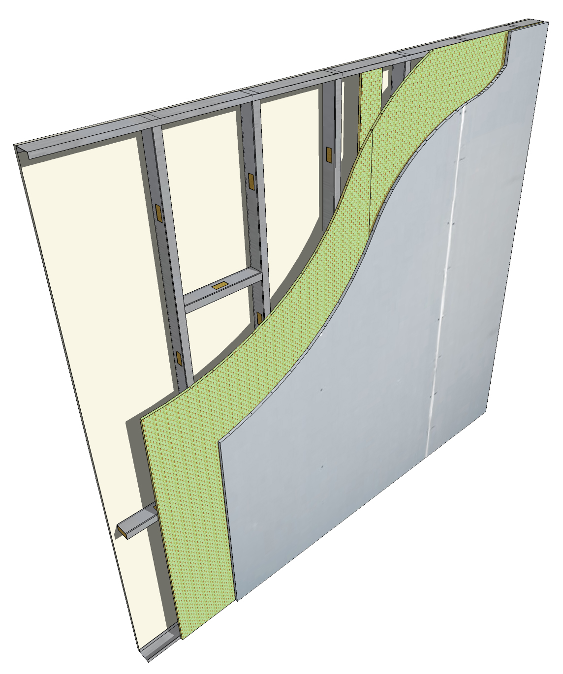 Bullet Board Wall Section