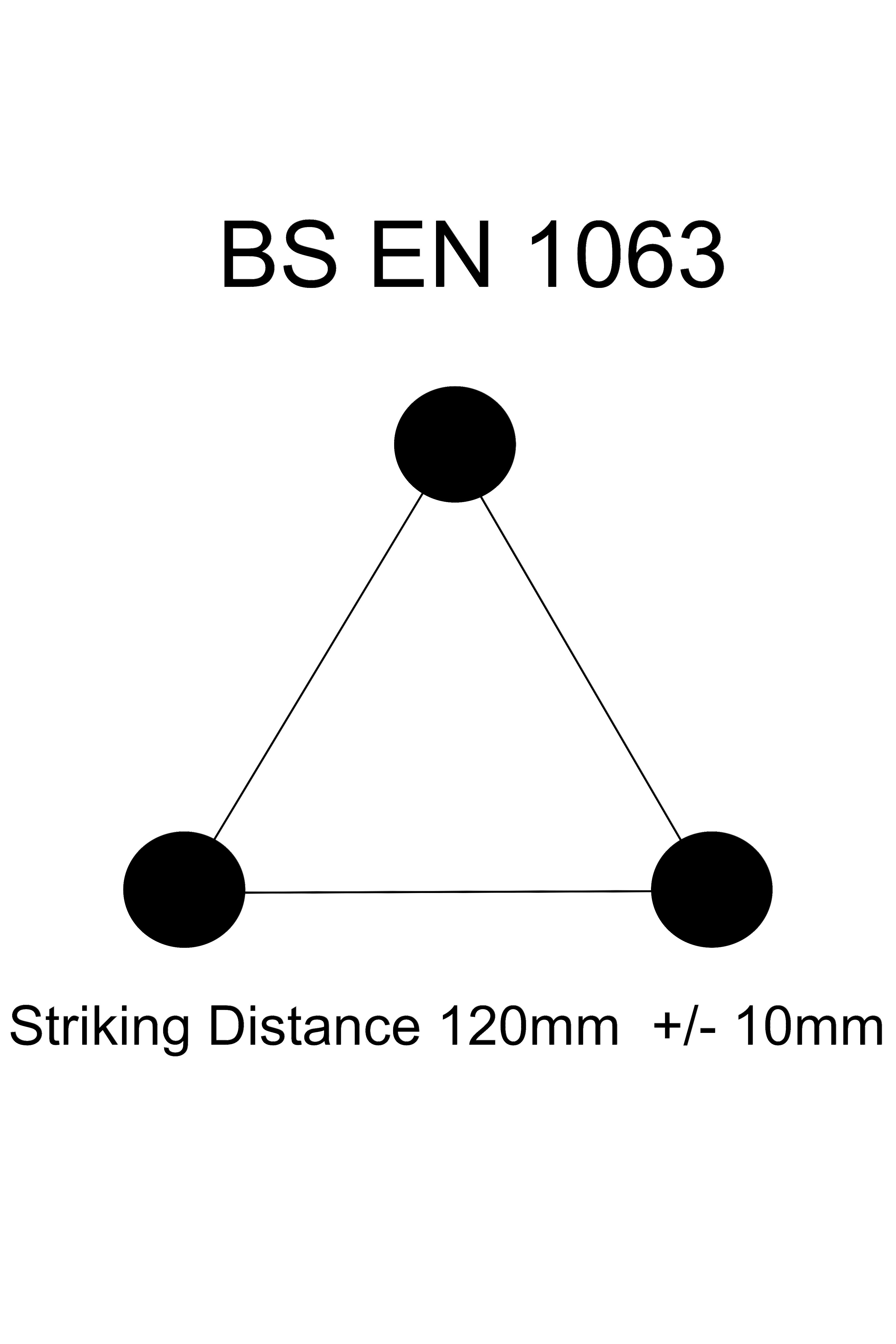 EN 1063 Test Triangle